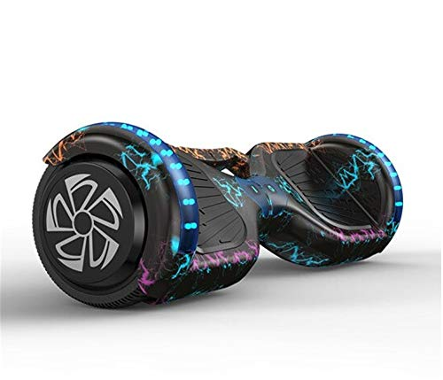 """JHKGY Hoverboard, 6,5\""""Selbstausgleichendes Zweirad-Hoverboard, Mit Bluetooth-Lautsprecher Und LED-Lichtern Music-Rhythmed Hoverboard,Für Kinder Und Erwachsene Selbstausgleichender Zweiradroller,A6"""
