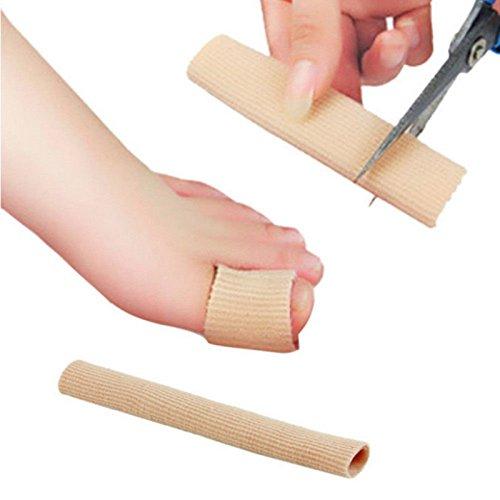 jiahao Hot 15cm Stoff Gel Tube Bandage Finger Zeh Fuß, Schmerzlinderung Displayschutzfolie Fuß (Gel-nagel Versorgt)