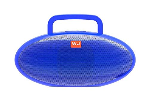 Altavoz Bluetooth Bajo portátil Mini-teléfono Fútbol portátil al Aire Libre estéreo, Azul