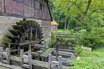 "Alu-Dibond-Bild 140 x 90 cm: \""Wassermühle Welbergen\"", Bild auf Alu-Dibond"