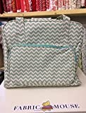 Hobbygift Groves Exclusive: Nähmaschine Beutel: Matt PVC: Scribble Chevron-Mint Green & Gold, Baumwolle, Assorted, 20 x 43 x 37 cm