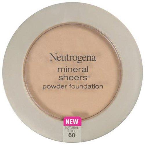 NEUTROGENA - Mineral Sheers Powder Foundation #60 Natural Beige - 0.34 oz (9.6 g)