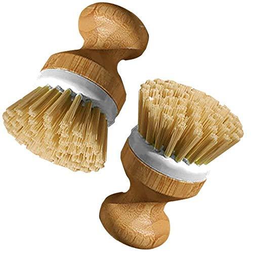 Depory Pinsel-Set mit Griff aus Holz für Teller, Pan Pot Brot Pan Set