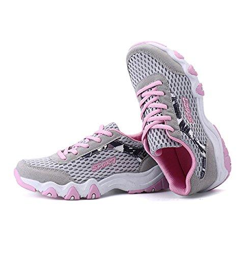 XTIAN, Ballerine donna Grau,Pink
