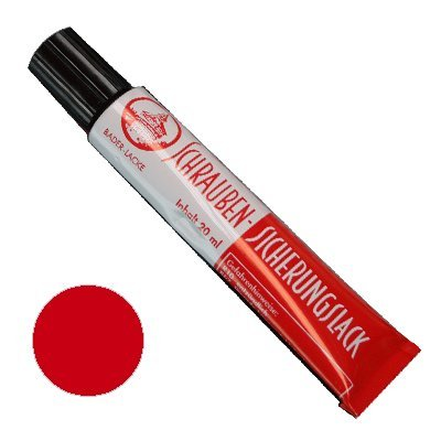 Preisvergleich Produktbild Schraubensicherungslack 20 ml. in Tube rot - Sicherungslack - Schraubenkleber
