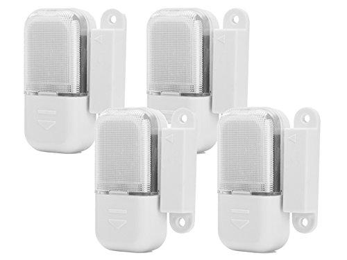 4er-Set LED Schubladenleuchten / Schrankleuchten mit Magnetschalter (batteriebetrieben)