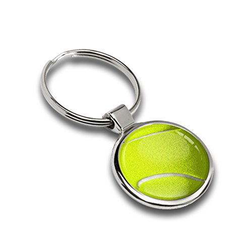 Schlüsselanhänger Sport Tennis Ball Metall Keyring Auto Schlüssel Geschenk Metall-Schlüsselanhänger KK - Sport Tennisbälle