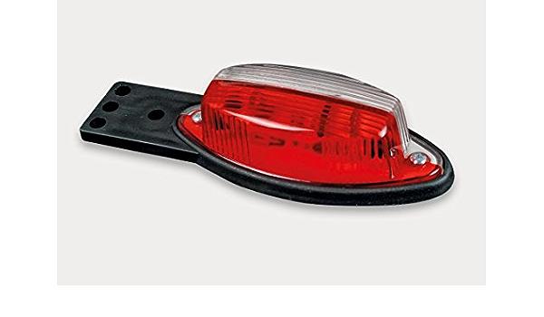 Begrenzungsleuchte Rot Weiß Mit Halter Und Einem Flachkabel 2x0 75 Mm Anhänger Lkw Wohnwagen Nutzfahrzeuge Trailer Auto
