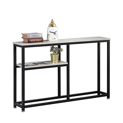 soges Konsolentisch Industrial Konsolentisch Sideboard Beistelltisch, Holz und Metall mit 2 Ablagen Lagerregal, Multifunktionale Tisch Regal für Küche, Eingang, Wohnzimmer DX-122