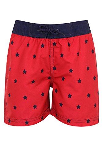 Jungen Nifty Kids Bedruckt Schwimmen Boardshorts Hawaiian Strand Surf Trunks Star Print - Red