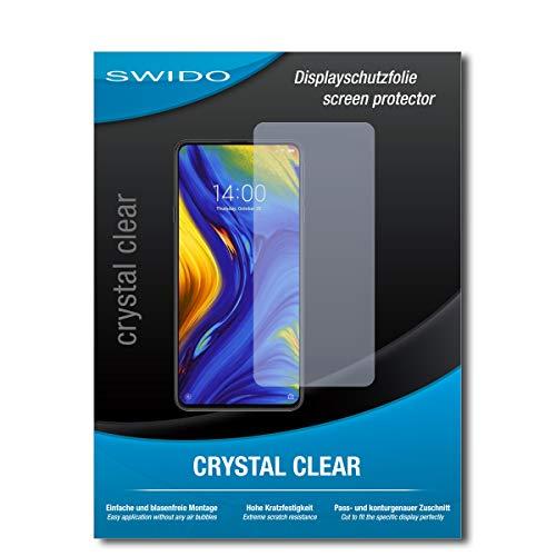 SWIDO Schutzfolie für Xiaomi Mi Mix 3 [2 Stück] Kristall-Klar, Hoher Härtegrad, Schutz vor Öl, Staub und Kratzer/Glasfolie, Displayschutz, Displayschutzfolie, Panzerglas-Folie