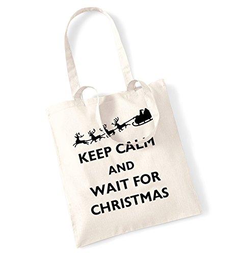 Keep calm christmas is coming tote bag natur