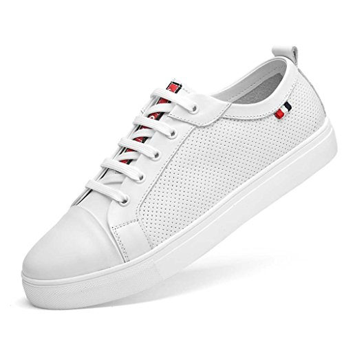 ZXCV Scarpe all'aperto Scarpe da tavolo Uomo scarpe casual comfort pelle White A