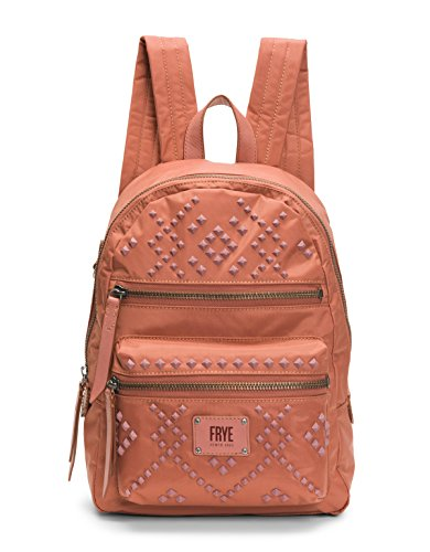 FRYE Damen Stud Backpack Ivy Nylon, Nieten, Rucksack, Dusty Rose, Einheitsgröße Frye Rose