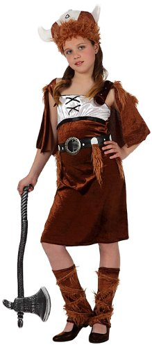 Atosa - Disfraz de vikingo para niña, talla 116 (8422259107040)