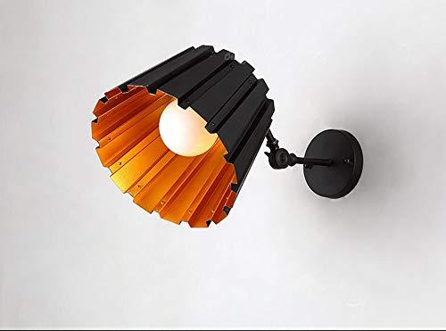 KAIASlink Postmodernen Stil Eisen Lampenkörper Aluminium Lampenschirm E27 Teleskopstange Wandleuchte (Farbe: schwarz)