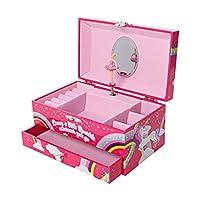 GirlZone: Unicorn Jewellery Box, Ballerina Music Box For Girls