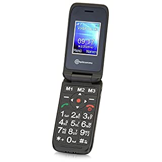 Amplicomms PowerTel M6700 Easy to Use Mobile Phone - Black