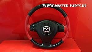 Mazda RX 8RX8SE17Volant Volant similicuir rouge Multi Fonction avec protection en cuir Module