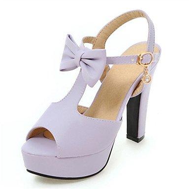 LvYuan Sandalen-Kleid Lässig Party & Festivität-maßgeschneiderte Werkstoffe Kunstleder-Blockabsatz-Komfort Neuheit-Schwarz Rosa Lila Beige Purple