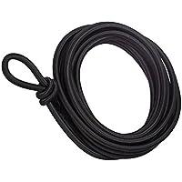 5metros fuerte elástico Bungee cuerda de 5mm ancho negro cordón elástico de color blanco cuerda elástica para reparación negro