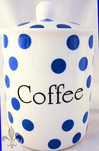 Pois Bleu-Pot à café-Porcelaine Fine-Bleu-Boîte de rangement pour café dans les U. K.-gratuite
