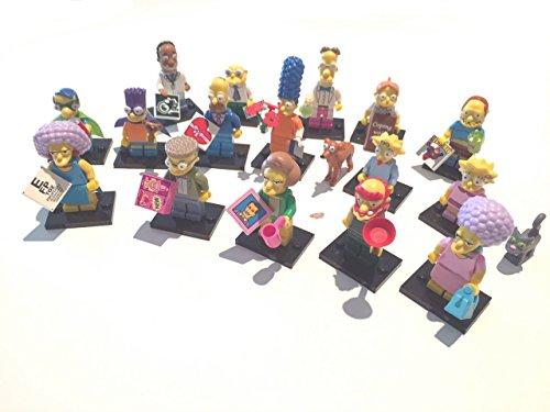Lego 71009 Minifiguren Lego Simpsons Serie 2 - Komplettsatz - alle 16 Figuren