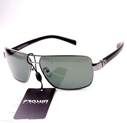 CBDGD Neue Männer Sonnenbrillen Sonnenbrillen Fahrer Sonnenschirm Gezeiten polarisierte Brille Frosch Spiegel männlich authentisch Sonnenbrille (größe : Black Frame with Packaging)