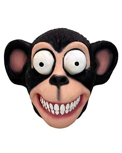 Horror-Shop Verrückter Schimpanse Latex Maske als Halloween Tiermaske