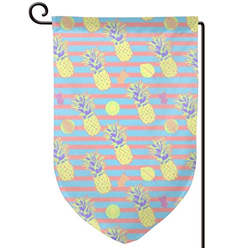 Socksforu #SAGE Summer Pineapple Splats and Sunny Days Art Garden Flag Yard Flag 12.5