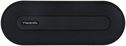 Yiwanda Altavoz Bluetooth, Mini Altavoces portátil inalámbrico con Bluetooth (estéreo, micrófono, Batería recargable, autonomía de 10 horas) - Negro