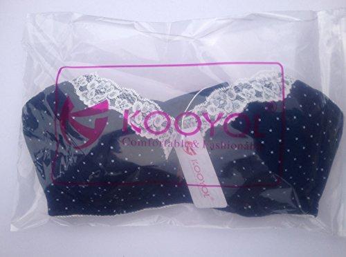 KOOYOL Femme Coton Souple Soutien-Gorge de Maternité Allaitement Armatures Bleu