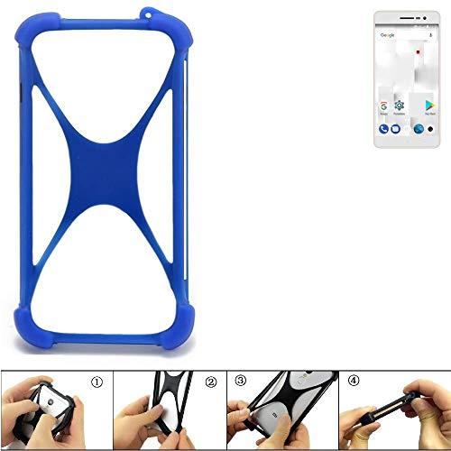 K-S-Trade Bumper für Thomson Delight TH201 Silikon Schutz Hülle Handyhülle Silikoncase Softcase Cover Case Stoßschutz, blau (1x)