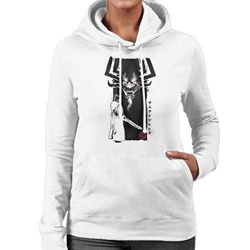 Samurai Jack Return Of The Samurai Women's Hooded Sweatshirt White
