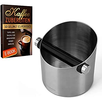 Abschlagbehälter Edelstahl Knockbox Abklopfbehälter für Kaffeesatz Verdicken 385