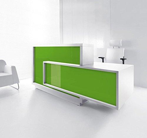 Empfangstheke FORO weiss-grün Empfangstresen Rezeption Bürotheke