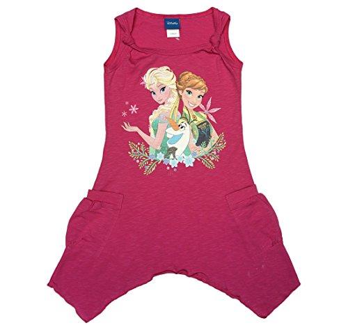 isprinzessinnen Sommer Mädchen Baby Freizeit Strand Kleid Rock Kostüm Kurzarm ärmellos Trägerkleid 100% Baumwolle von Disney mit Anna und ELSA Olaf Farbe Modell 9, Größe 116 ()