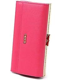 c741f3ab644d0 AIM Geldbörse Damen Leder Gross Geldbeutel Groß Viele Fächer Kartenfächer  Lang Clutch Handtasche RFID Schutz Portmonee
