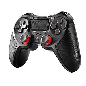 Wireless Controller für PlayStation 4, Welltop Dual Vibration Shock 4 PS4 Controller Kabelloser Gamepad Controller,Pro Game Controller Gamepad Joypad Joystick Kompatibel mit PS4, PS4 Slim, PS4 Pro