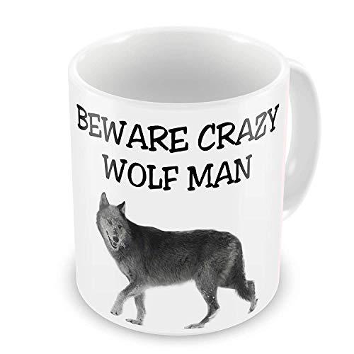 Lustige Tasse mit lustigem Wolf