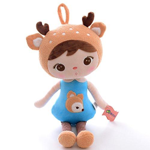 Metoo-Gibao-Serie-Plschpuppe-Puppe-fr-Baby-und-kleine-Mdchen-Geburtstagsgeschenk-fr-Kinder-Elch-Mdchen-Puppe