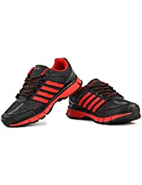 Austin Nicholas Mens Black Red Sport Shoes