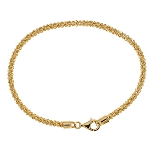 Popcorn-kabel (Gold 18 K pop-corn Kabel Armband)