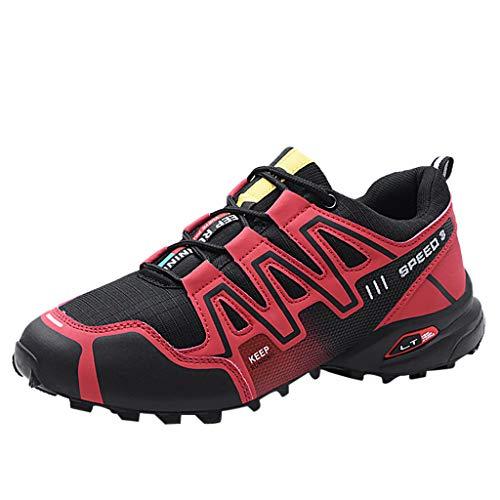 Subfamily❀Sneakers Traspiranti in Mesh di Grandi Dimensioni da Uomo Scarpe con Cinturini Colorblock Cool Trampolieri Scarpe da Nuoto Scarpe da Corsa Scarpe da Ginnastica Festa del papà