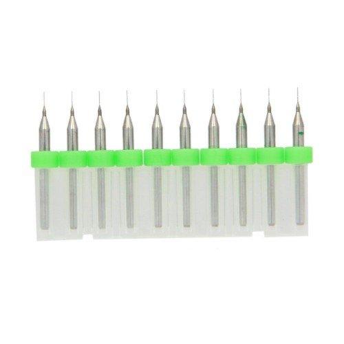 10pcs 0.2mm Hartmetall-Bohrer CNC zum Fräsen von PCB-gedruckten Schaltungen