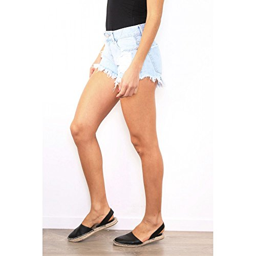 Ideal Shoes Damen Short Blau