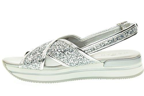 HOGAN femme HXW2570U450L04B200 sandales silver