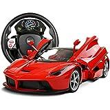 JINKRYMEN 1:14 LaFerrari (Open Door) Steering Wheel Remote Control Kids RC Toy Car