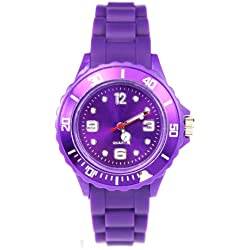 AccessoriesBySej 24 Colours - SMALL PURPLE 33mm CHILDREN'S KIDS GIRLS BOYS LADIES WOMENS SMALL 33mm QUARTZ SILICON /RUBBER STYLE JELLY SPORT WRIST WATCHES UNISEX DATE