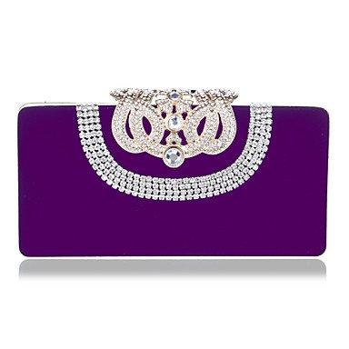 pwne L. In West Woman Fashion Luxus High-Grade Nachgemachte Diamanten Abend Tasche Purple